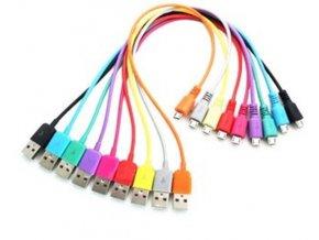 Kábel USB 2.0 konektor USB A / Micro-USB 1m červený