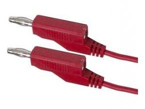 Prepojovací kábel 0,35mm2 / 1m s banánikmi červený
