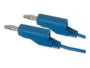 Prepojovací kábel 0,35mm2 / 1m s banánikmi modrý