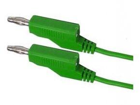 Prepojovací kábel 0,35mm2 / 1m s banánikmi zelený