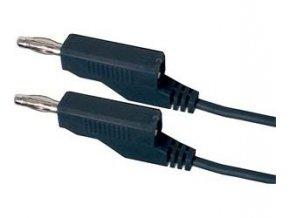 Prepojovací kábel 0,35mm2 / 0,5m s banánikmi čierny