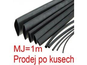 Zmršťovacia bužírka 3,5 / 1,75mm čierna, balenie 1m