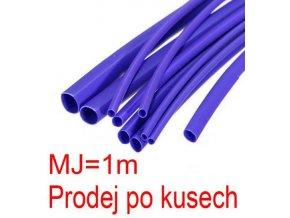Zmršťovacia bužírka 3,0 / 1,5mm modrá, balenie 1m