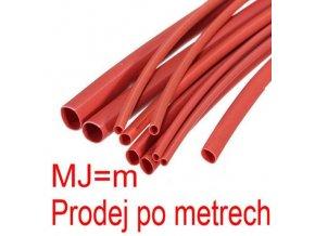 Zmršťovacia bužírka 1,5 / 0,75mm červená