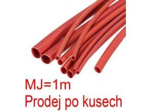 Zmršťovacia bužírka 2,0 / 1,0mm červená, balenie 1m