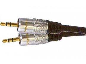 Kábel Jack 3,5 - Jack 3,5 stereo, kábel 5mm, 3m