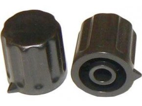 Prístrojový gombík KP1404, 14x15mm, hriadeľ 4mm, čierny