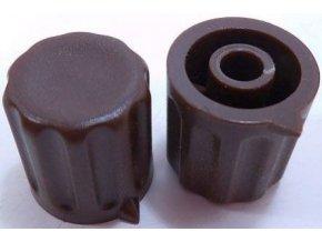 Prístrojový gombík KP1404, 14x15mm, hriadeľ 4mm, hnedý