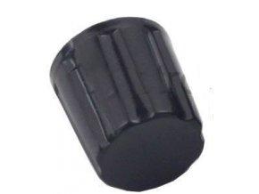 Prístrojový gombík K16-2 19x16mm, hriadeľ 4mm, čierny