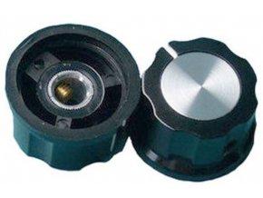 Prístrojový gombík MF-A03 27x15mm, hriadeľ 6mm