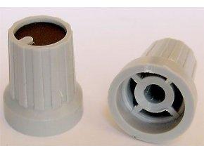 Prístrojový gombík KP15, 15x18mm, hriadeľ 4mm, čierny