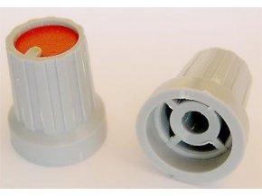 Prístrojový gombík KP15, 15x18mm, hriadeľ 4mm, červený