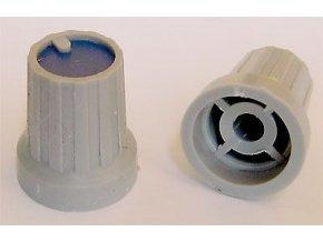 Prístrojový gombík KP15, 15x18mm, hriadeľ 4mm, modrý