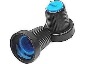 Prístrojový gombík 15x17mm, hriadeľ 6mm čierno-modrý