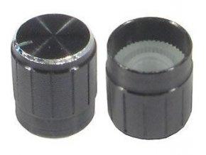 Prístrojový gombík 18T 15x17mm, hriadeľ 6mm čierny