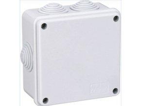 Instalační krabička S100, 100x100x50mm, 6x průchodka