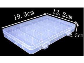 Krabička na součástky 193x132x23mm 24 sekcí