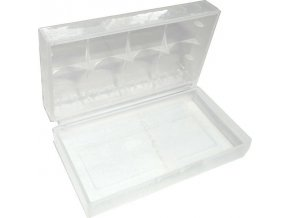 Krabička pre 2 nabíjacie články 18650 71x40x19mm