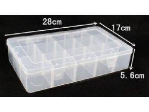 Krabička na súčiastky 280x170x56mm 15sekcí
