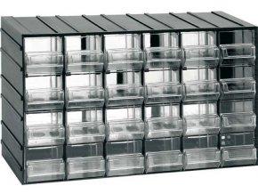 Závesná skrinka stohovacie 382x230x148mm - 24 krabičiek, ArtPlast 611