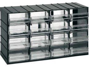 Závesná skrinka stohovacie 382x230x148mm - 16 krabičiek, ArtPlast 612