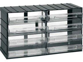 Závesná skrinka stohovacie 382x230x148mm - 8 krabičiek, ArtPlast 614
