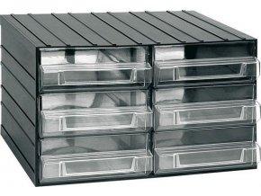 Závesná skrinka stohovacie 382x290x230mm - 6 krabičiek, ArtPlast 702