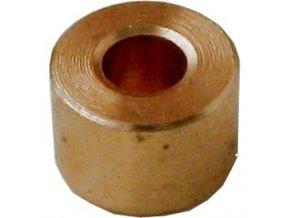 Dištančné stĺpik 8x5,4mm, otvor 3,2mm mosadzný
