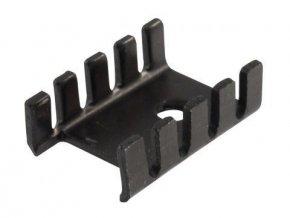 Chladič 13x19x6 (TO220) čierny elox. 22K / W DO3A