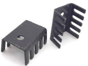 Chladič 15x10x20 (TO220) čierny elox. 22K / W