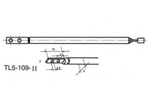 Anténa teleskopická priemer 5mm 109 / 338mm 5dielna