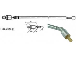 Anténa teleskopická priemer 6mm 258 / 884mm 6dielna