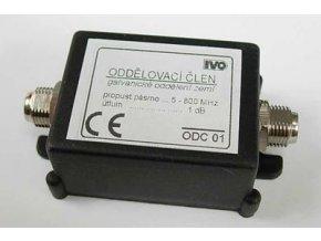 Galvanický odděl. zemí 5-800MHz s F konektory