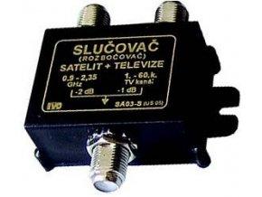 Zlučovač + rozbočovač TV / SAT IVO SA03-S