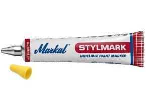 Guličkový popisovač nezmazateľný biely STYLMARK štandard 3mm
