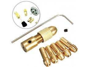 Skľučovadlo 0,3-3mm pre minivrtačky, 5x klieština, pre hriadeľ 2,3mm