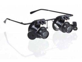 Zväčšovacie okuliare - binokulárne lupa so zväčšením 20x a osvetlením