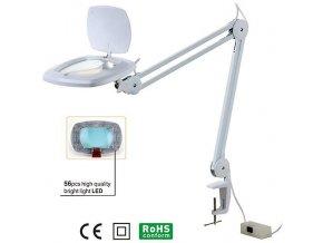 Stolní lupa LED ZD-142A, 3 dioptrie, uchycení svorkou