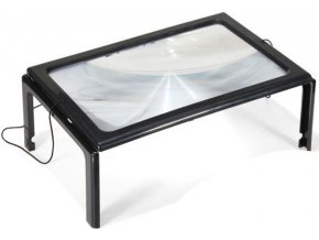 Čítacie lupa A4 v rámčeku s LED svetlom, pracovné lupa MG275205