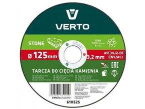 Kotúč rezný na kameň, 125mm, 3,2mm x 22,2mm, VERTO