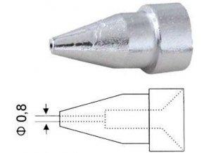 Dutý hrot N5-2 0,8/2,3mm pro odsávačku ZD-915,ZD-917,ZD-985,ZD-987