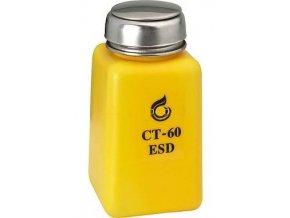 Fľaštička na chemikálie 190ml s pumpičkou antistatická