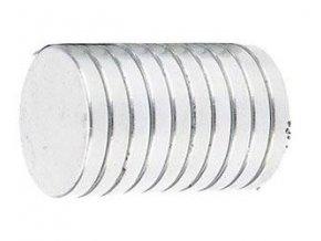 Neodymový magnet N35 20x3mm, balenie 10ks