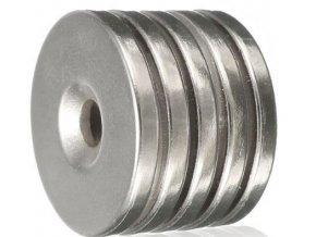Neodymový magnet N35 25x3mm, balenie 5ks