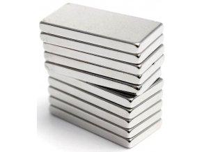 Neodymový magnet N50 20x10x2mm, balenie 10ks