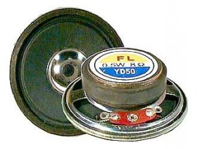 Repro 50mm YD50-1, papier, 8ohm / 0,5W