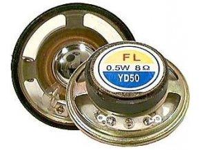Repro 50mm YD50-3 mylar, 8ohm / 0,5W