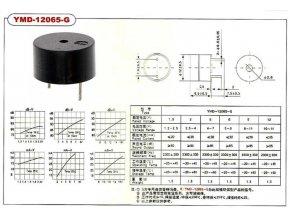 Piezobzučák 12mm, napájanie 10-14V / 25mA