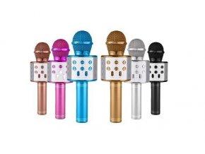 Bezdrôtový bluetooth karaoke mikrofón, guľatý, Gold