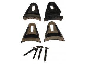 Sada 4 ks úchytov pre repro-kryt, plastová, čierna